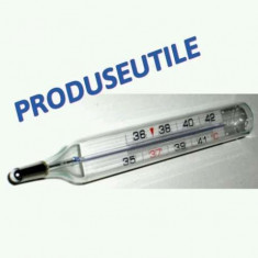 Termometre.Termometru Uman.Termometru Medical Cu Mercur MODEL CLASIC - Termometru copii Altele