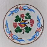 Farfurie  pictata manual, Transilvania / Ardeal -Alba, anii 1920-1930
