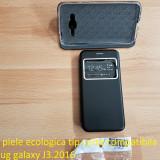 Husa piele ecologica tip carte compatibila samsug galaxy J3.2016, Alt model telefon Samsung, Negru