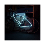 Kit fir luminos decorativ tuning cadru bicicleta Alb 3 M
