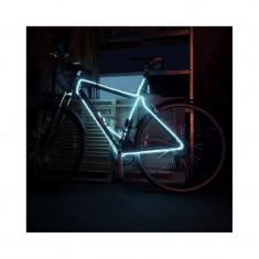 Kit fir luminos decorativ tuning cadru bicicleta Alb 3 M