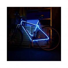 Kit fir luminos decorativ tuning cadru bicicleta albastru 3 M - Accesoriu Bicicleta, Faruri si semnalizatoare