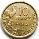 FRANTA, 10 FRANCS 1952 B, MONETARIA BEAUMONT LE ROGER !, Europa, Bronz