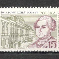 Polonia.1987 Ziua mondiala a Postei SP.386 - Timbre straine, Nestampilat