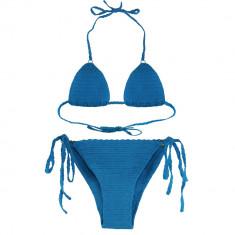 Costum de baie turcoaz de dama crosetat manual Buticcochet, Marime: Marime universala, Doua piese
