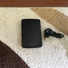 Hard Extern 500gb USB 3.0 TOSHIBA, FARA BADURI, scanat SENTINEL( 0 ore utilizare) - HDD extern Toshiba, 500-999 GB, Rotatii: 5400