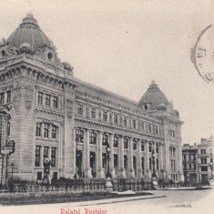 BUCURESTI PALATUL POSTELOR FARMACIE CLASICA TCV CIRCULATA 1902 - Carte Postala Muntenia pana la 1904, Printata