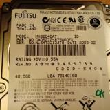 HDD Laptop Fujitsu 40 GB IDE (10102), Sub 40 GB, Rotatii: 5400