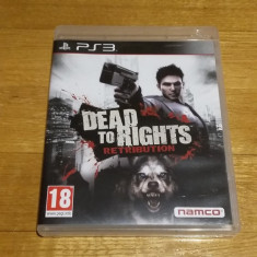 PS3 Dead to rights Retribution - joc original by WADDER - Jocuri PS3 Namco Bandai Games, Actiune, 18+, Single player
