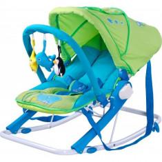 Sezlong pentru Copii Aqua Green - Balansoar interior Caretero