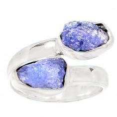 Inel Tanzanit brut(mas.7, 5)-Ag 925 - Inel argint