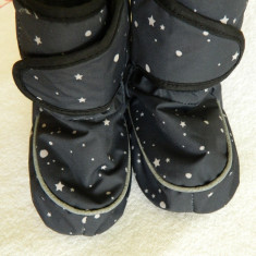 Botosei/Cizme Thinsulate - Cizme copii, Marime: 18, Culoare: Gri, Fete, Textil