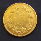 Raritate 20 LEI 1870-AUR ! - Moneda Romania