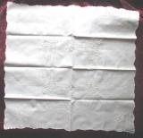 SUPERBA FATA DE MASA PANZA ALBA, VECHE, CU BRODERIE MANUALA FINA, Dim.90 x 86 cm