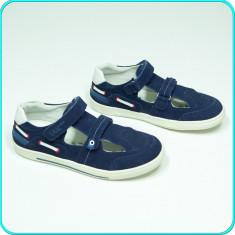 NOI, DE FIRMA → Pantofi de vara, DIN PIELE, aerisiti, CHICCO → baieti | nr. 34 - Adidasi copii Chico S, Culoare: Bleumarin, Piele naturala