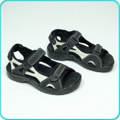 CA NOI → Sandale PIELE, comode, aerisite, calitate, ROCK TRAIL → baieti | nr. 38, Negru