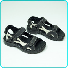 CA NOI → Sandale PIELE, comode, aerisite, calitate, ROCK TRAIL → baieti | nr. 38 - Sandale copii, Culoare: Negru, Piele naturala
