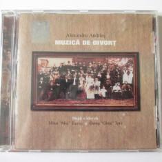 Rar! Cd nou in tipla Alexandru Andries, albumul:Muzica de Divort din anul 2001 - Muzica Folk a&a records romania