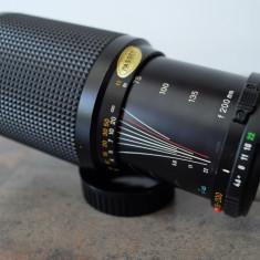 Obiectiv foto zoom 75-200mm/4.5 Minolta MD pt Sony, Fuji, Olympus 4/3 - Obiectiv mirrorless, Micro Four Thirds
