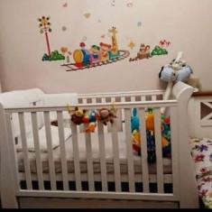 Patut evolutiv 3 in 1, Tutti Bambini Katie, white - Patut lemn pentru bebelusi Tutti Bambini, 120x60cm, Alb
