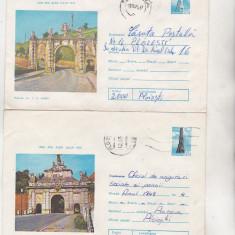 Bnk ip Lot 2 intreguri postale 1975 - circulate - Alba Iulia, Dupa 1950