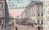 BRAILA  STR  REGALA  MAGAZINE  TRAMVAI  LIBRARIA G. HALIKIAS   CLASICA CIRC.1907, Circulata, Printata