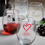 Stemless Personalizată pahare de vin * 25pcs Min. - Argint