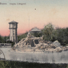 BUZAU, ELESTEUL CRANGULUI CIRCULATA 1905 TCV - Carte Postala Muntenia dupa 1918, Printata