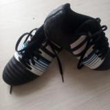 Ghete Fotbal Adidas, Marime: 35, Culoare: Negru