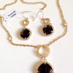 Set bijuterii dama-placat cu Aur 18k si cristale zirconiu -swarovski