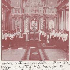 BUCURESTI CAPELA SCOALEI NORMALE ASILUL ELENA DOAMNA CIRCULATA 1910 - Carte Postala Muntenia 1904-1918, Printata