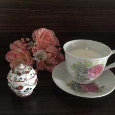 LUMANARI PARFUMATE DECORATIVE IN CESCUTE VINTAGE DE PORTELAN - Lumanare parfumata