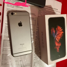 Iphone 6s 16GB liber de retea garantie pana in 07/07/2018 full box, arata 10/10 - Telefon iPhone Apple, Gri, Neblocat