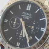 Ceas Pulsar Chronograph - Ceas barbatesc Pulsar, Casual, Quartz, Otel, Analog, 100 m / 10 ATM