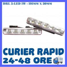 DRL 5-LED 1W - 191mm x 30mm - DAYTIME RUNNING LIGHT - LUMINI DE ZI