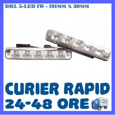 DRL ZDM 5-LED 1W - 191mm x 30mm - DAYTIME RUNNING LIGHT - LUMINI DE ZI, Universal