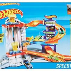 Jucarie baieti parcare speedtropolis Hot Wheels - Masinuta