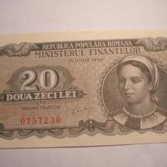 20 lei 1950 XF - Bancnota romaneasca