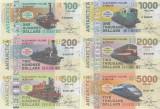FANTASY NOTES : ALEXANDER I ISLAND - TRENURI , LOT COMPLET (6 BUC.) 2017 - UNC