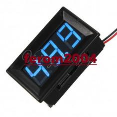 Ampermetru digital cu leduri albastre si carcasa, 100A, foarte precis, 3 digit