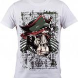 """Tricou personalizat """"Pirat"""" printeo - Tricou barbati, Marime: S, M, L, XL, XXL, Culoare: Alb, Maneca scurta"""