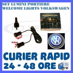 SET 2 x LUMINI LOGO LASER VOLKSWAGEN GENERATIA 6 (12V, CAMION 24V) - LED CREE 7W