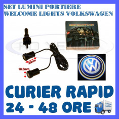 SET 2 x LUMINI LOGO LASER VOLKSWAGEN GENERATIA 6 (12V, CAMION 24V) - LED CREE 7W - Logo Marca ZDM