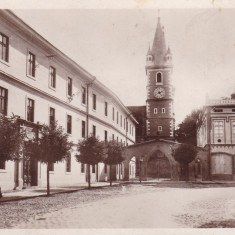 ORASTIE COLEGIUL FARMACIE CIRCULATA 1933 LIBRARIA H. SPITRA ORASTIE - Carte Postala Transilvania dupa 1918, Fotografie