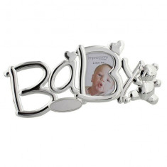 Silverplated Baby Rama foto cu Teddy