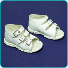 CALITATE → Sandale DIN PIELE, comode, aerisite, IMPIDIMPI → fete, baieti | nr 22 - Sandale copii, Culoare: Alb, Unisex, Piele naturala