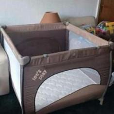 Tarc de joaca cu inele ajutatoare Play Up 09 Baby Design tarc + saltea, Maro