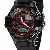 Synoke Sports Power (culoare cadran: negru-rosu) - Ceas barbatesc, Quartz