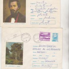 Bnk ip Lot 2 intreguri postale 1970 - circulate - Pictura, Dupa 1950