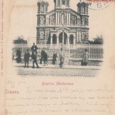 CRAIOVA  BISERICA  MANTULEASA  VERSO POLITA DE ASIGURARE  CLASICA  TCV CIRC.1902